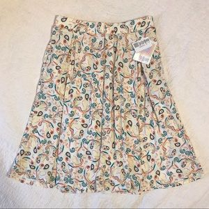 LuLaRoe Madison floral skirt NWT